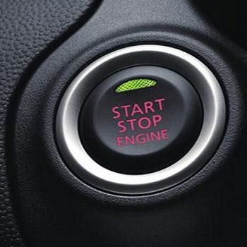 תמונה של כפתור התנעה במיצובישי אטראז' במרכז שירות מיצובישי