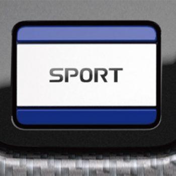 תמונה של כפתור ספורט באולם תצוגה מיצובישי